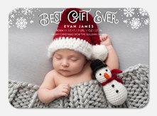 Snowy Corners - Baby Christmas Cards