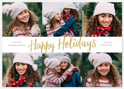 Glittered Holiday Holiday Photo Cards