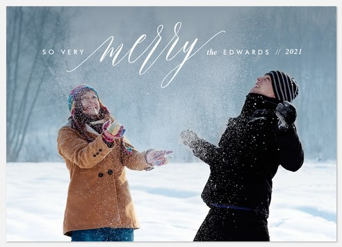 Merry Sentiments Holiday Photo Cards