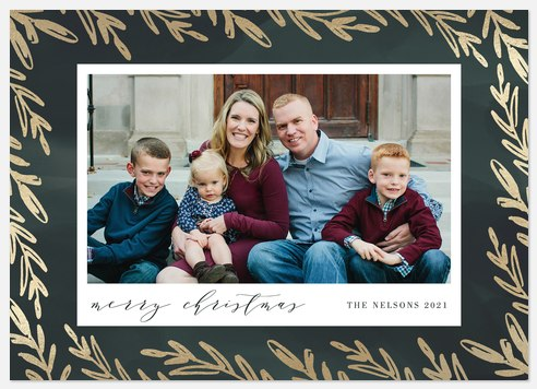 Elegant Branches Holiday Photo Cards