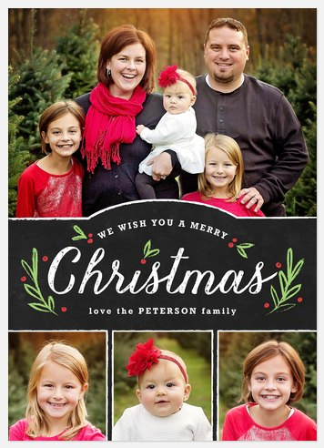 Wish You Merry Holiday Photo Cards