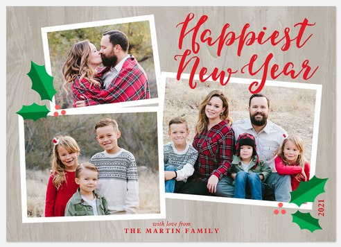 Rustic Charm Holiday Photo Cards