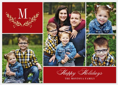 Laurels Collage Holiday Photo Cards