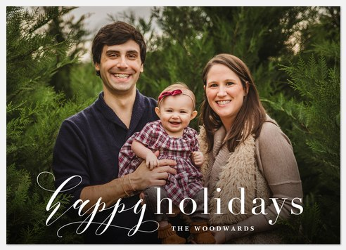 Happily Flourished Holiday Photo Cards