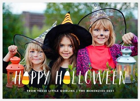 Candy Corn Treats Halloween Photo Cards