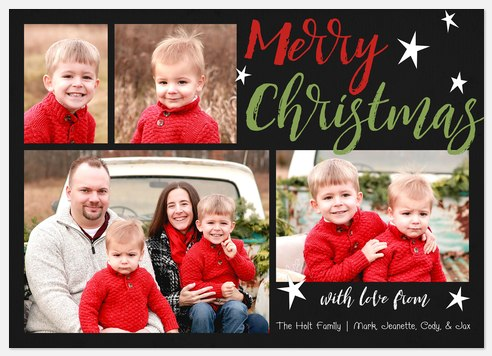 Merry Little Stars Holiday Photo Cards