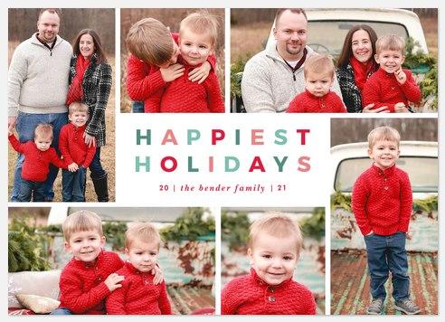 Holiday Grid Holiday Photo Cards