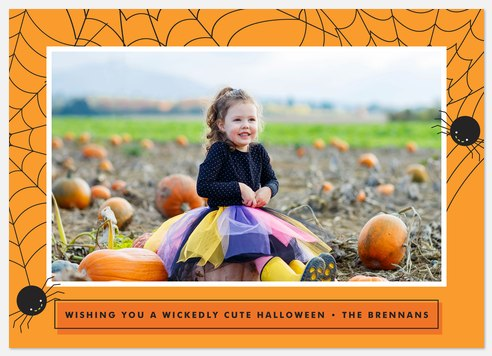 Itsy Bitsy  Halloween Photo Cards