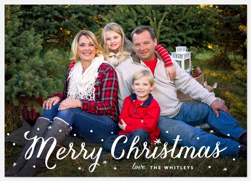 Snow Dots Holiday Photo Cards