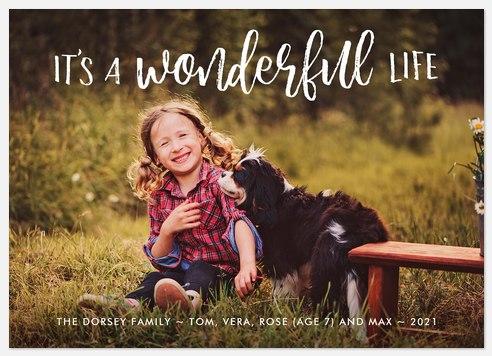 Brushed Wonderful  Holiday Photo Cards