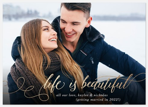 Life is Beautiful Holiday Photo Cards