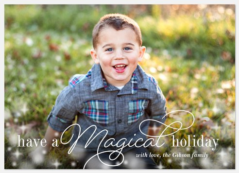 Magical Twinkles Holiday Photo Cards