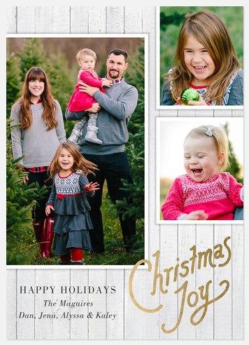 Joyful Woodland Holiday Photo Cards