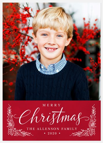 Touch of Holly Holiday Photo Cards
