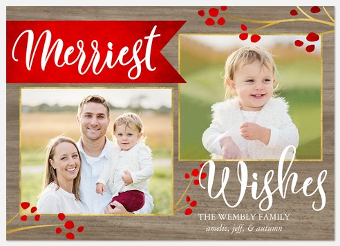 Banner & Berries Holiday Photo Cards