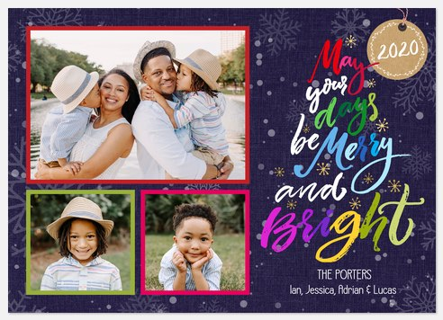 Festive & Bright Holiday Photo Cards