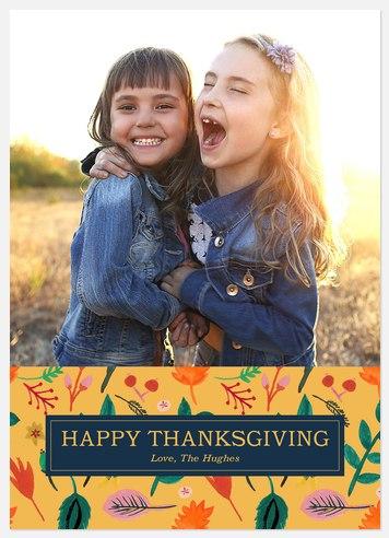 Floral Harvest Thanksgiving Cards