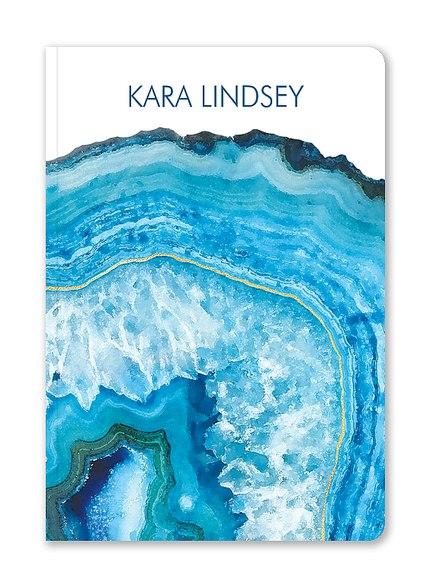 Custom Journals, Vibrant Geode Design