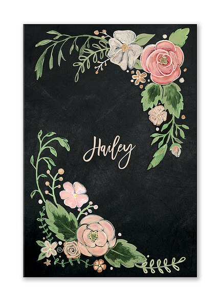 Custom Journals, Floral Dreams Design