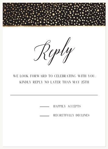 Calligraphic Elegance Bat Mitzvah RSVP Cards