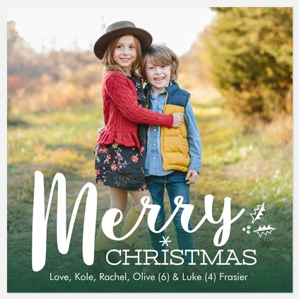 Merry Marker Holiday Photo Cards