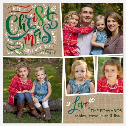 Krafted Christmas Holiday Photo Cards