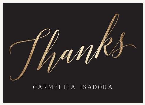 Quinceañera Thank You Cards, Calligraphic Elegance Design