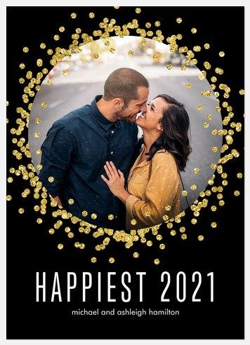 Sparkled Embrace Holiday Photo Cards