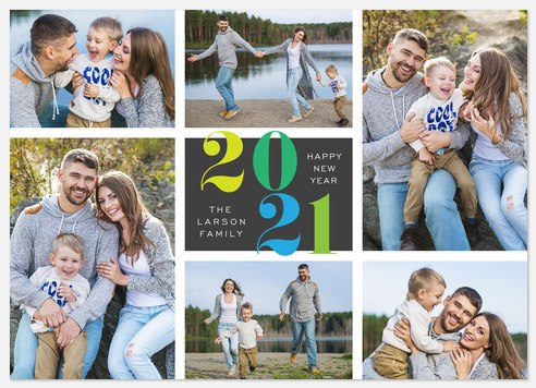 Colorful Year  Holiday Photo Cards