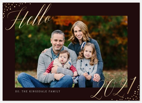 Graceful Gleam Holiday Photo Cards