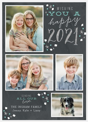 A Sparkled Year Holiday Photo Cards