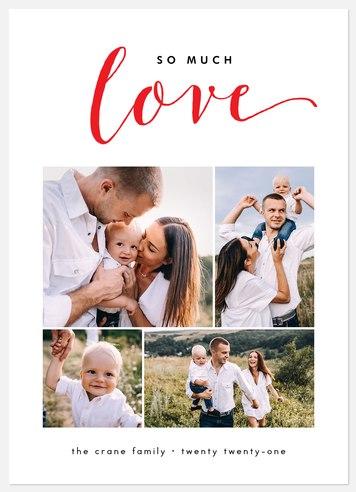Much Love Collage Valentine Photo Cards