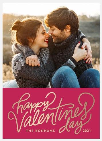 Lovely Script Valentine Photo Cards