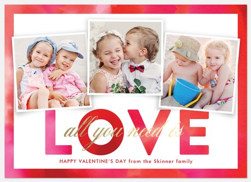 All You Need Is Love Valentine Photo Cards
