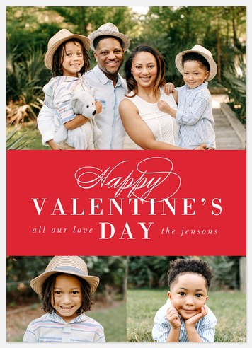 Classic Valentine Valentine Photo Cards