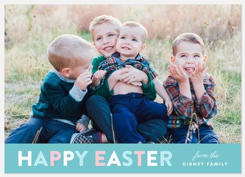 Springtime Banner  Easter Photo Cards