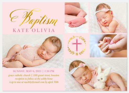 Bright Baptism Baptism Christening Invitations