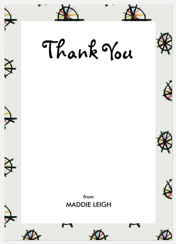 Crayon Pinwheels Thank You Cards