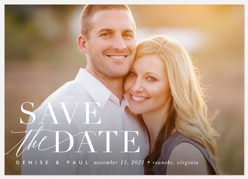 Stylish Simplicity Save the Date Photo Cards