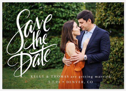 Simply Handlettered Save the Date Photo Cards