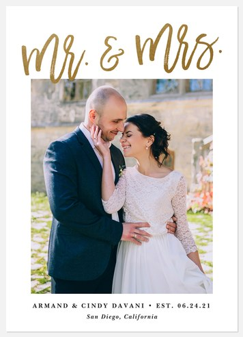 Blissful Titles Wedding Announcements