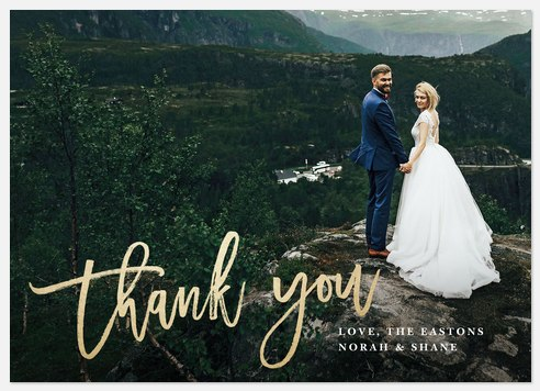 Modern Sincerity  Thank You Cards