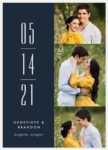 Stacked Date Save the Date Photo Cards