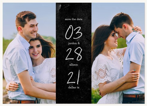 Bold Chalk Save the Date Cards