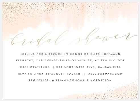 Rosy Chic Bridal Shower Invitations