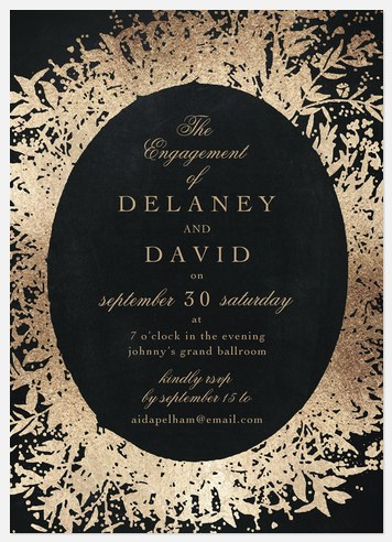 Ornate Flora Engagement Party Invitations