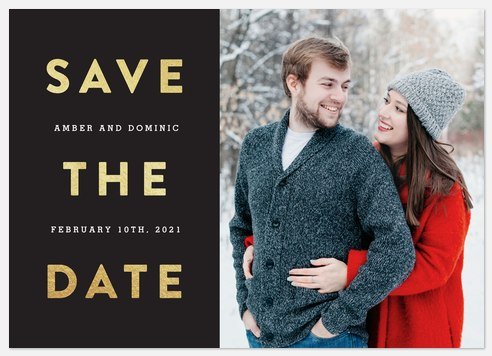 Modern & Bold Save the Date Photo Cards