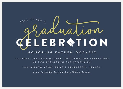 Charming Calligraphy Graduation Cards