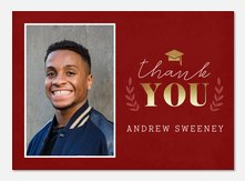 dignified laurels - Graduation Thank You Cards