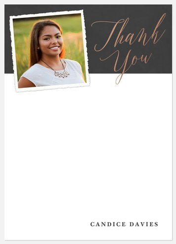 Senior Scrapbook Thank You Cards